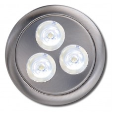 3 Watt LED Puck Light Set, 12V, Low Voltage, Recess/Surface Mount